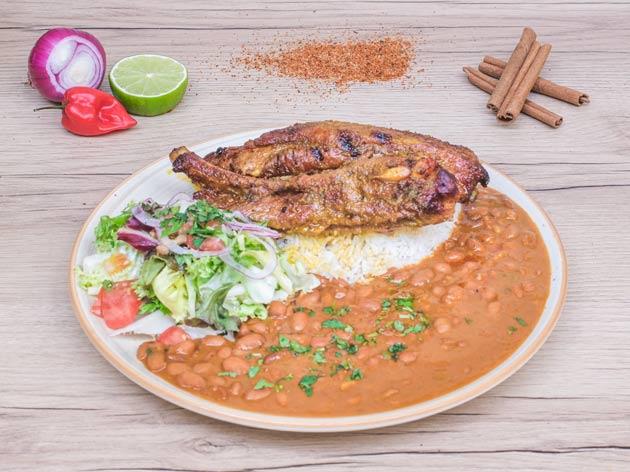 arroz con menestra y costilla el manaba