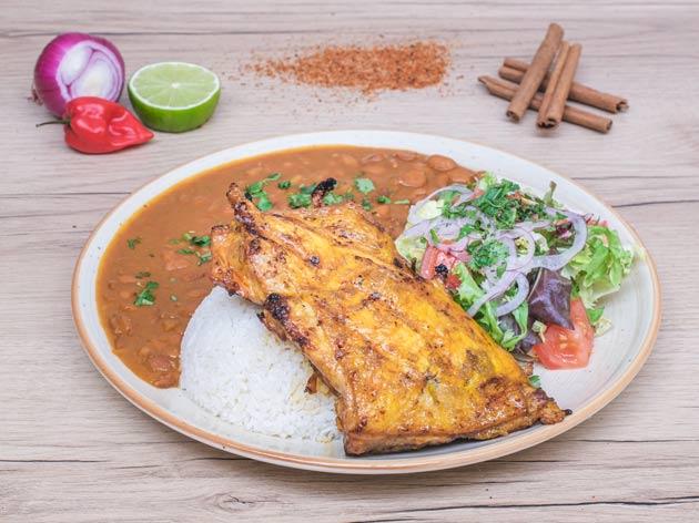 arroz con menestra y pollo el manaba